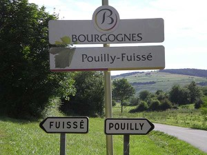 signs to Pouilly Fuisse